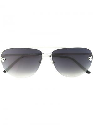 Солнцезащитные очки Panthère Cartier. Цвет: чёрный
