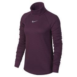 Женская футболка для гольфа с длинным рукавом  AeroReact Nike. Цвет: пурпурный