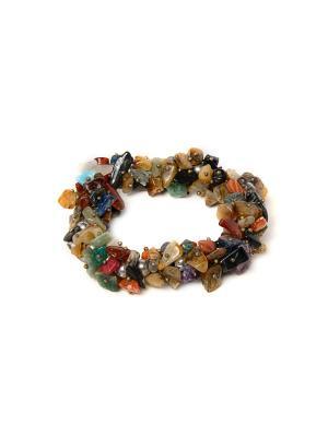 Браслет из натурального камня Indira. Цвет: коричневый, хаки