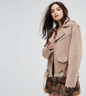 Reclaimed Vintage Замшевая куртка Revived. Цвет: рыжий