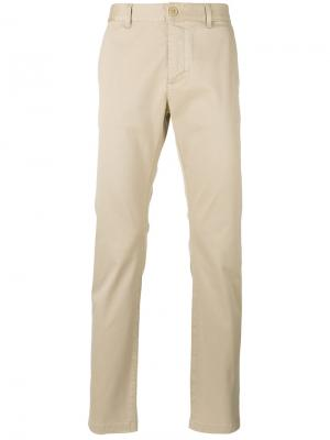 Классические брюки-чинос кроя слим Saint Laurent. Цвет: телесный