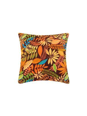 Подушка декоративная Лес на коричневом EL CASA. Цвет: коричневый, оранжевый, желтый