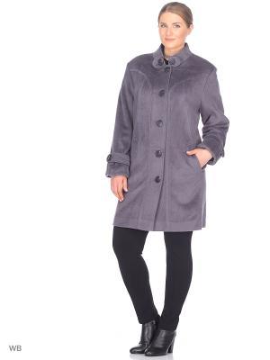 Пальто Гламур VIKO. Цвет: серо-голубой