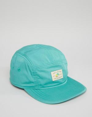 Hollister 5-панельная кепка. Цвет: зеленый