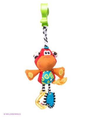 Игрушка-подвеска Обезьянка Playgro. Цвет: оранжевый, желтый, красный