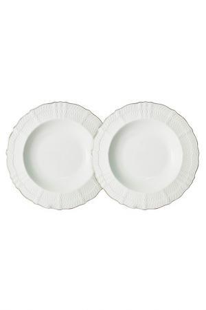 Набор из 2-х суповых тарелок Colombo. Цвет: белый
