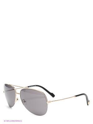 Солнцезащитные очки Enni Marco. Цвет: темно-серый, золотистый