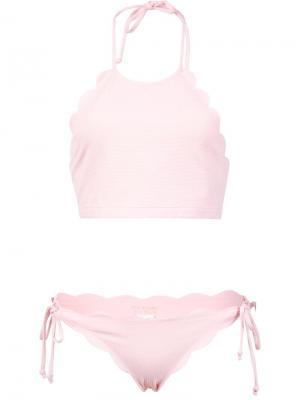 Бикини Mott Halter Top & Side Tie Bottom Marysia. Цвет: розовый и фиолетовый