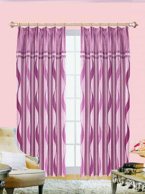 Комплект штор ZLATA KORUNKA. Цвет: фиолетовый