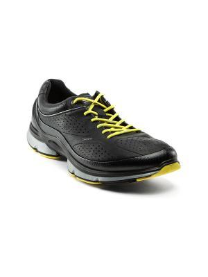 Ботинки ECCO. Цвет: черный, желтый