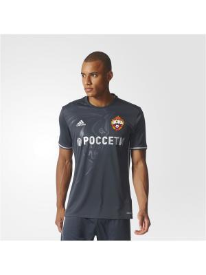 Футболка спортивная муж. CSKA A JSY Adidas. Цвет: черный