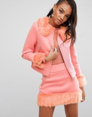 SHADE London Комбинируемая куртка в стиле 90-х из комплекта. Цвет: розовый