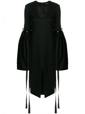 Свободное платье с рукавами клеш Ellery. Цвет: чёрный