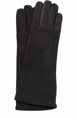 Замшевые перчатки Sermoneta Gloves. Цвет: черный