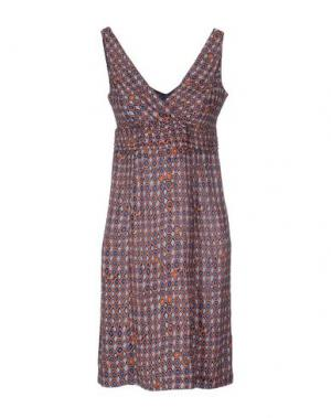 Короткое платье MALÌPARMI. Цвет: темно-синий