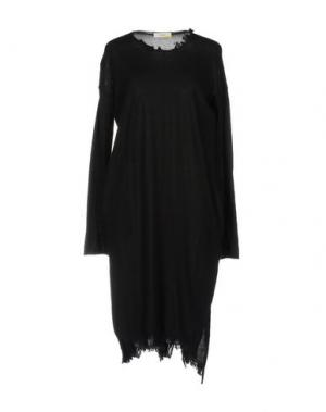 Короткое платье MANOSTORTI. Цвет: стальной серый
