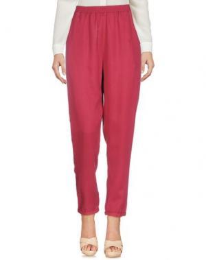 Повседневные брюки YES ZEE by ESSENZA. Цвет: кирпично-красный
