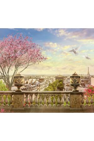 Обои Весна в Париже 300х270 Chernilla. Цвет: синий