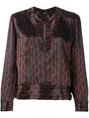 Блузка с разрезом Isabel Marant. Цвет: чёрный