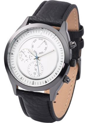 Мужские наручные часы в стиле хронометра (черный) bonprix. Цвет: черный