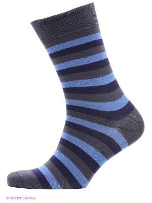Носки, 2 пары БРЕСТСКИЕ. Цвет: темно-серый, голубой