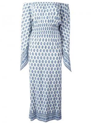 Платье с открытыми плечами Steffen Schraut. Цвет: белый