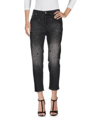 Джинсовые брюки DIXIE. Цвет: стальной серый