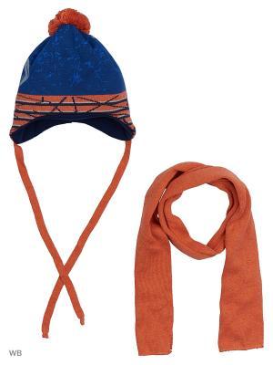 Шапка и шарф Agbo. Цвет: рыжий