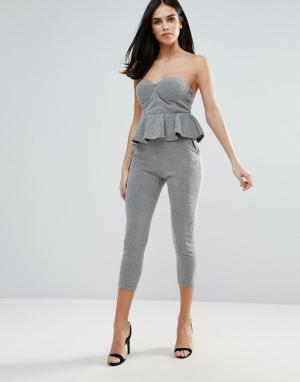 Unique 21 Облегающие брюки Unique21. Цвет: серый