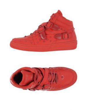 Высокие кеды и кроссовки LEATHER CROWN. Цвет: красный