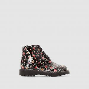 Ботинки лакированные на молнии и шнуровке R édition. Цвет: цветочный рисунок