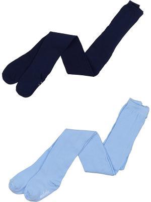 Колготки Детские, комплект 2 шт Malerba. Цвет: темно-синий, голубой
