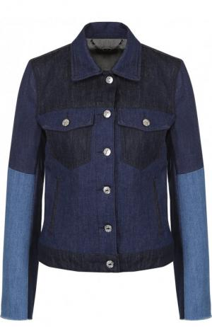 Джинсовая куртка с отложным воротником 7 For All Mankind. Цвет: синий