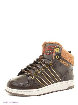 Кроссовки  Hoops Lx Mid Adidas. Цвет: коричневый