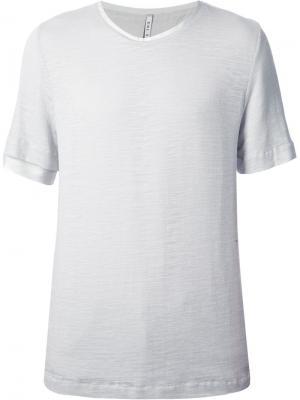 Классическая футболка Ubi Sunt. Цвет: серый