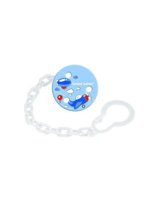 Клипса-держатель для пустышки - Machines, 0+, цвет: синий, рисунок: самолетик Canpol babies. Цвет: синий