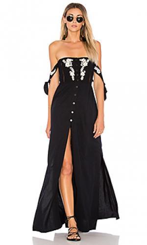 Макси платье solita Cleobella. Цвет: черный