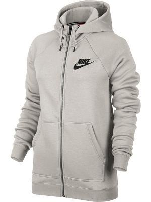 Толстовка W NSW RALLY HOODIE FZ Nike. Цвет: молочный, черный