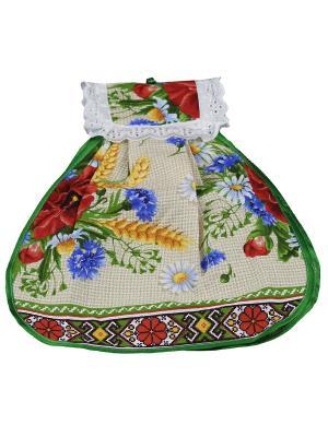 Полотенце Матрешка Римейн. Цвет: зеленый,бежевый