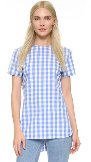Рубашка Julia с пуговицами на спине Marie Marot. Цвет: синий/белый