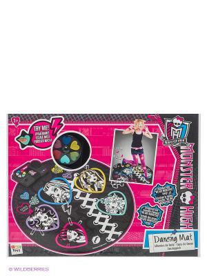 Танцевальный коврик ТМ MONSTER HIGH IMC toys. Цвет: черный, розовый