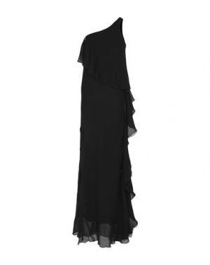 Длинное платье PATRIZIA PEPE SERA. Цвет: черный