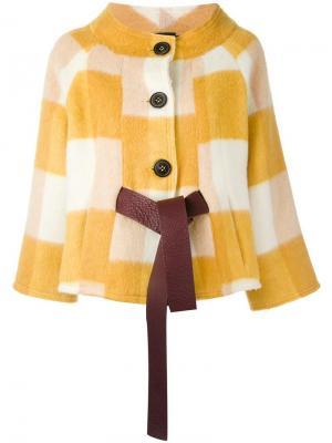 Укороченное однобортное пальто Roberto Collina. Цвет: телесный
