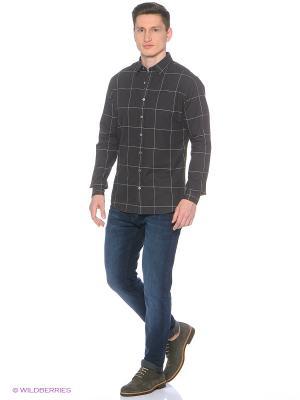 Рубашка - CHECKS MANGO MAN. Цвет: антрацитовый