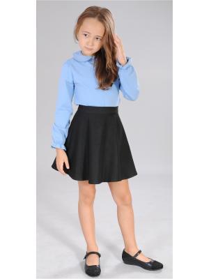 Блузка Милашка Сьюзи. Цвет: голубой, серый