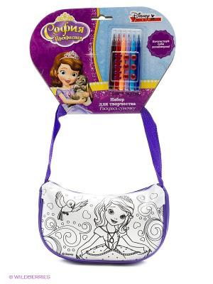 Набор для творчества  Disney софия. сумочка росписи на хедере Multiart. Цвет: фиолетовый