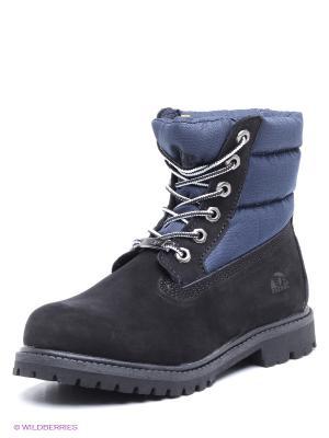 Ботинки Patrol. Цвет: черный, синий