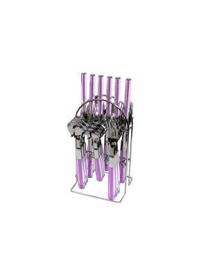 Набор столовых приборов 24 предмета Elff Ceramics. Цвет: бледно-розовый
