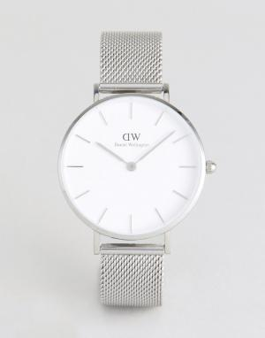 Daniel Wellington Серебристые часы с сетчатым ремешком DW00100164. Цвет: серебряный