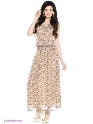 Платье VENUSITA. Цвет: бежевый